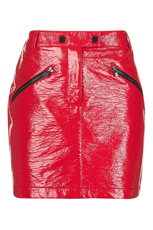red-vinvyl-mini-skirt-top-shop