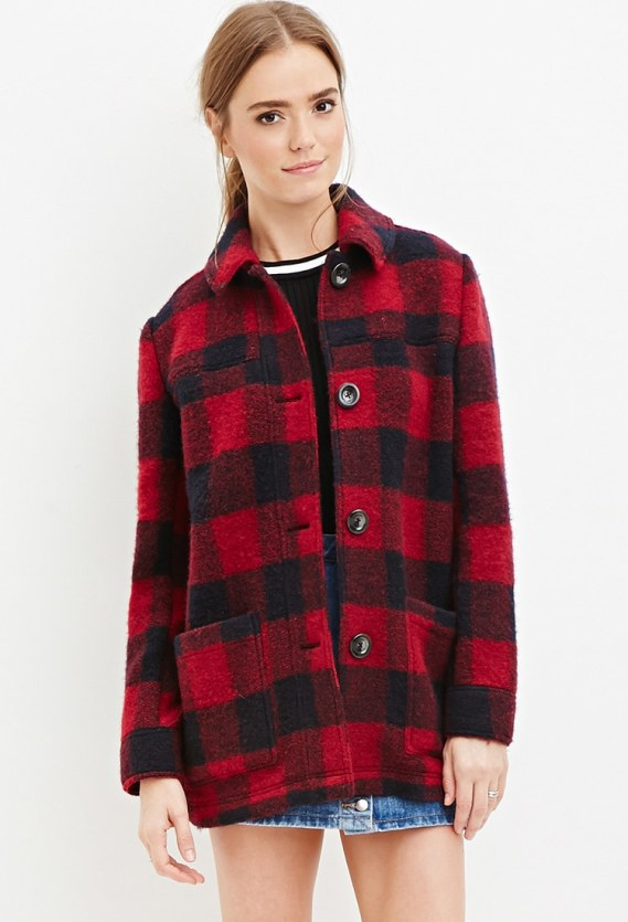 Wool Plaid Coat Forever21.jpg